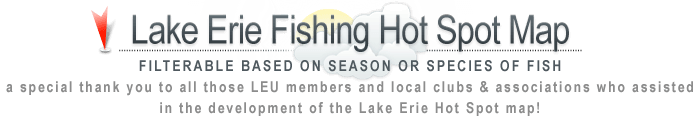 Lake Erie Hot Spot Fishing Map | Lake Erie Fishing Spots
